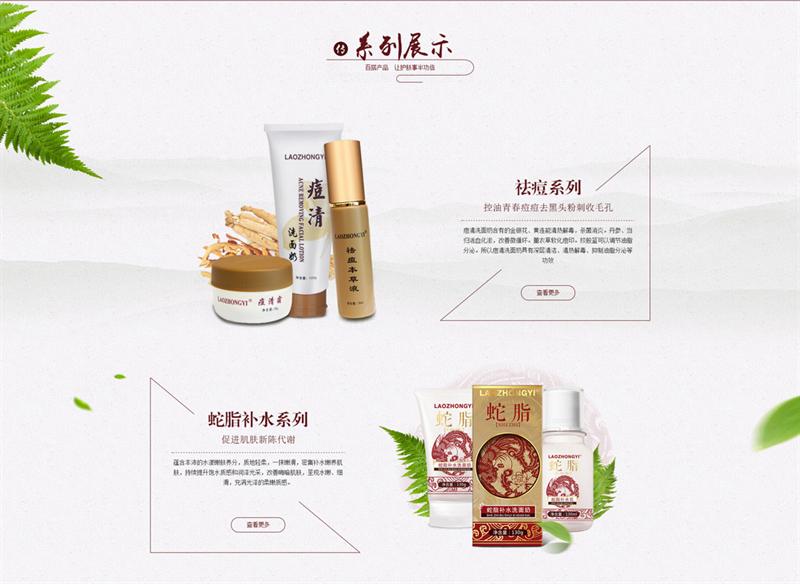 化妆护肤品网站建设制作开发案例