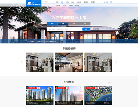 海南天一房地产营销策划有限公司网站建设项目--互诺科技