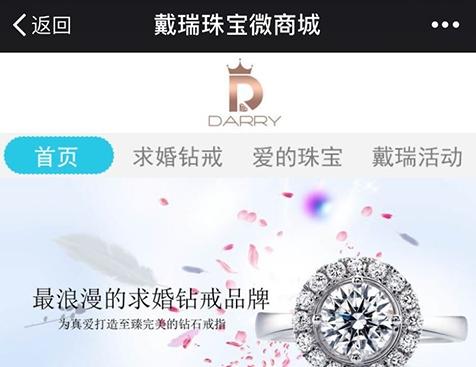 深圳戴瑞真爱珠宝有限公司手机网站建设项目