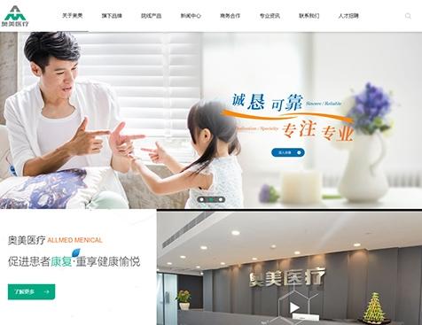 宜昌奥美医疗用品贸易有限公司网站建设项目--互诺科技