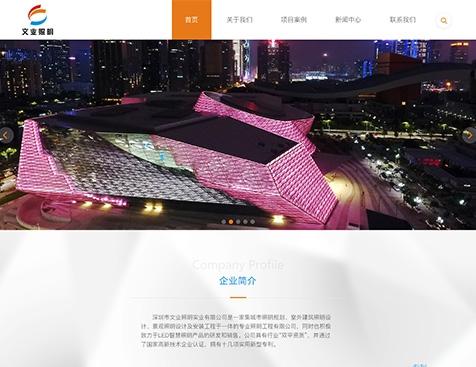 深圳市文业照明实业有限公司网站建设项目--互诺科技